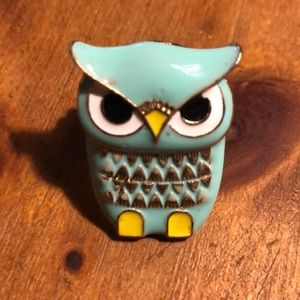 Owl ring and brown print ring